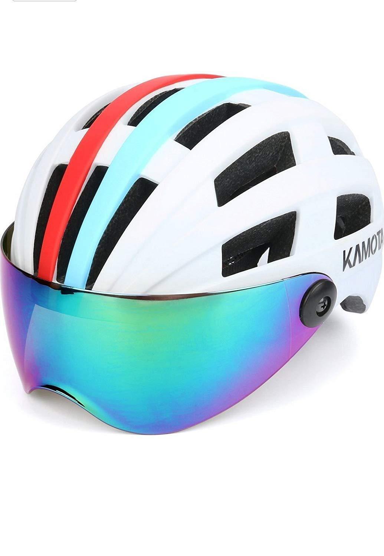 Bike Helmet, KAMOTA Bicycle Cycling Adult Helmet with Shield Visor Adjustable...