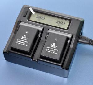 LCD-Charger-2x-Battery-for-Nikon-EN-EL14a-MH-24-D5200-D5100-D3500-D3200-1040mAh