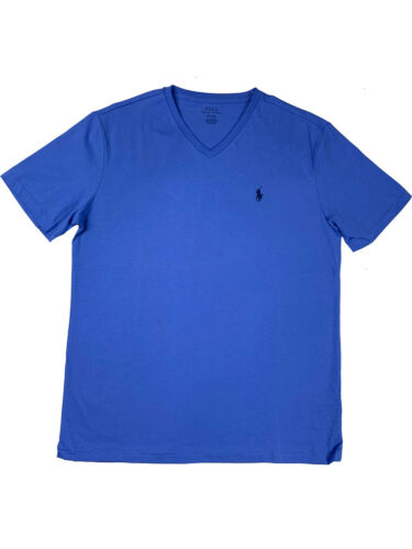 Ralph Lauren Polo Mens SS V-Neck Classic Pony Logo Green//Navy//Blue//Purple New