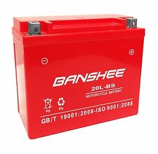 New Harley Davidson Motorcycle Replacement Banshee Battery, 4 Year Warranty