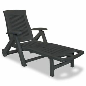 vidaXL-Sunlounger-with-Footrest-Plastic-Anthracite-Outdoor-Recliner-Chair