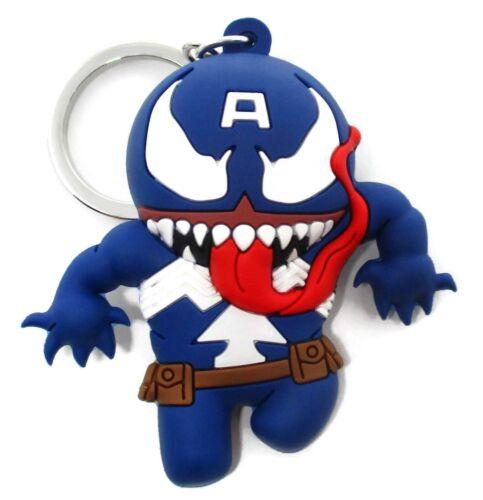 Marvel VENOM Collectors Figural Keyring VENOMIZED CAPTAIN AMERICA KEYCHAIN