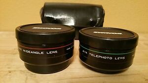 Zykkor Aux Wideangle And Telephoto Camara Lenses For Canon Sure shot AF35M &Case