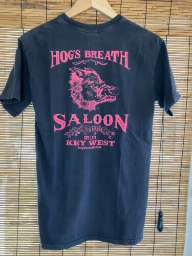 Vintage Hog/'s Breath Saloon Tshirt  80s 90s Hog Tshirt  Key West  Motorcycle Tee  Mens Large Black Tank  Sleeveless Biker Shirt