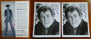3-hand-signed-Earl-Holliman-2-B-amp-W-8x10-photos-1-autographed-vintage-59-60-mag