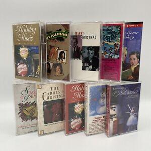 VINTAGE Lot Of 10 CHRISTMAS Cassette Tapes Nutcracker Sinatra Crosby Frosty A4