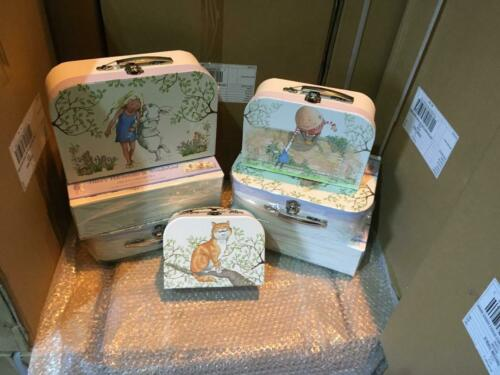 NEW JOB LOT X 5 SETS  Alice In Wonderland Triple Carrycase 3Set  NEW YEARS SALE
