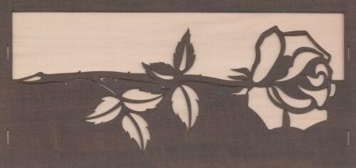 Grußkarte neutral mit Rose Erzgebirge