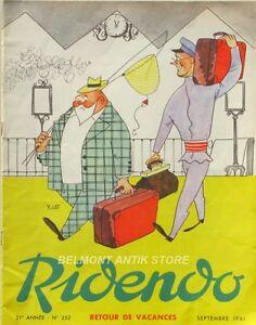 Raisonnable Ridendo N°252 - 1961 - Retour De Vacances - Illustration R.lep - Pub Médicales