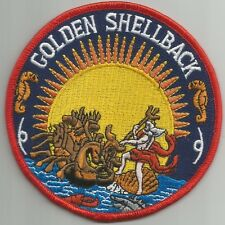 US NAVY Crossing of the Equator Shellback Military Patch GOLDEN SHELLBACK