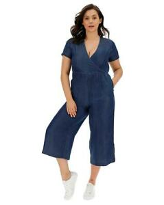 Simply-Be-Clair-Indigo-Souple-Tencel-Jeans-Combinaison-UK-18-US-14-Eu-46-CC21-5