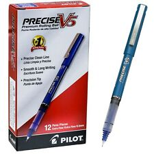 Pilot Precise V5 35335 Blue Ink 05mm Extra Fine Rolling Ball Pen Box Of 12
