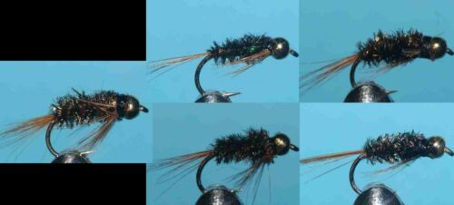 014 20 Goldhead Std Holo Diawl Bach FLIES HAND TIED TROUT FISHING FLY