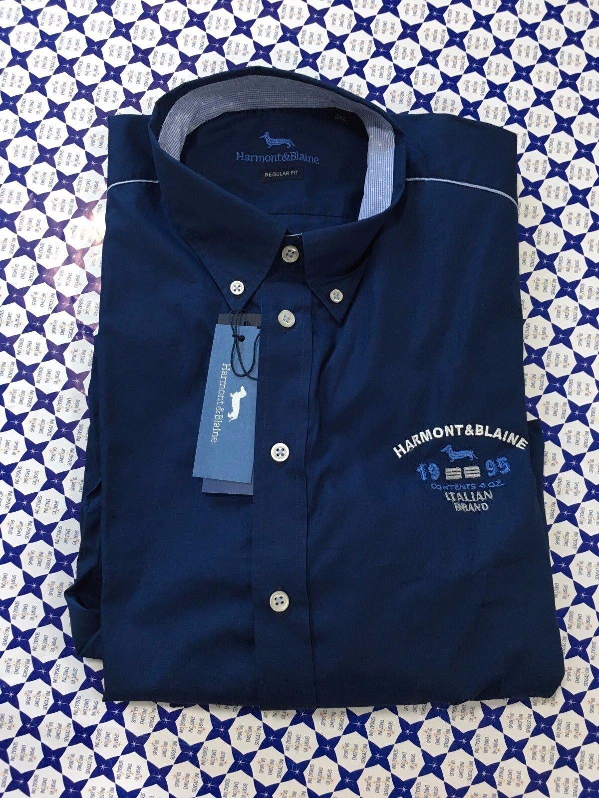 Camicia HARMONT & BLAINE Uomo Petto 1995 Toppe RF RF RF - Blu - C0A96 d01726
