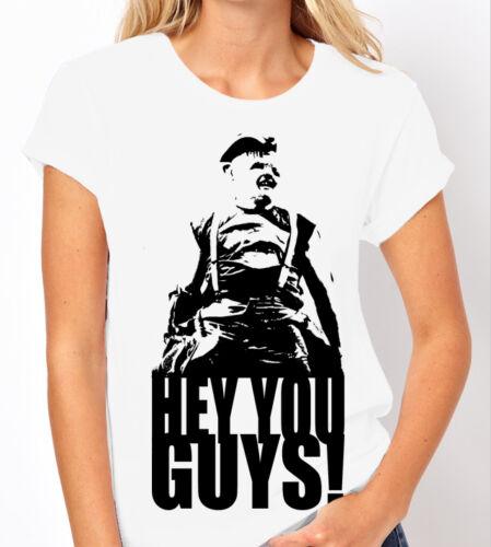 The Goonies Classic Film//Movie Ladies White T Shirt Spielberg Hey you guys!