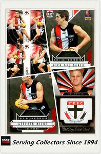 AFL-Trading-Card-MASTER-Team-Card-Collection-ST-KILDA-2012-AFL-II-Eternity