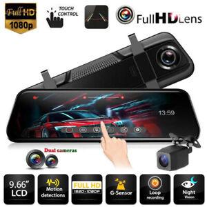 Car-DVR-Camera-10-034-Rear-View-Mirror-FHD-1080P-Dash-Cam-Registrar-Video-Recorder