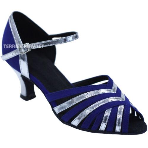 TPS Silver Patent /& Blue Suede Latin Ballroom Salsa Custom-made Dance Shoes D738