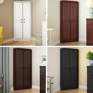 4 Door Corner Armoire Storage Cabinets Laundry Cabinet