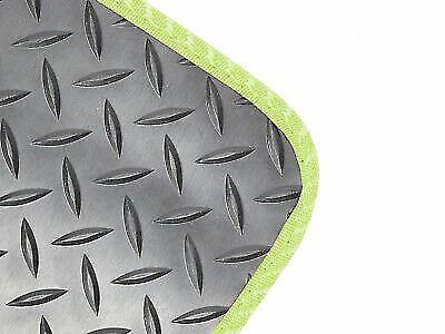 Tailored Fit Black Rubber 3mm Floor Mats 4pc Colour Trim Mat for Jaguar F-Pace