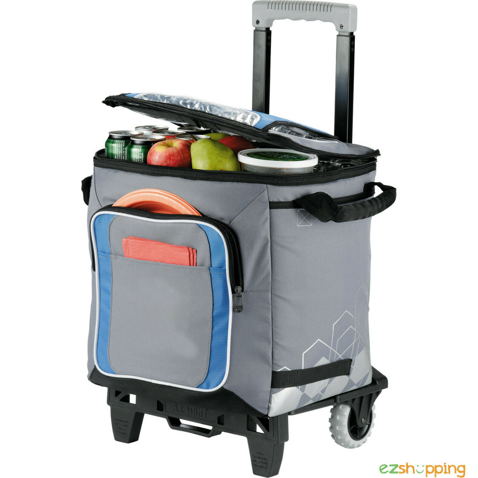 New Arctic Zone IceCOLD 50 Can Picnic Sports Event Rolling Cooler Free Ship