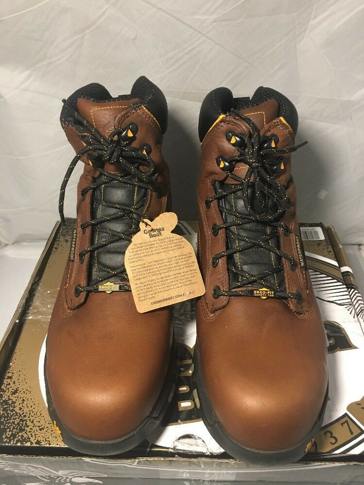 Georgia GB00168 Mid Calf Boot, Brown, Size  12 US