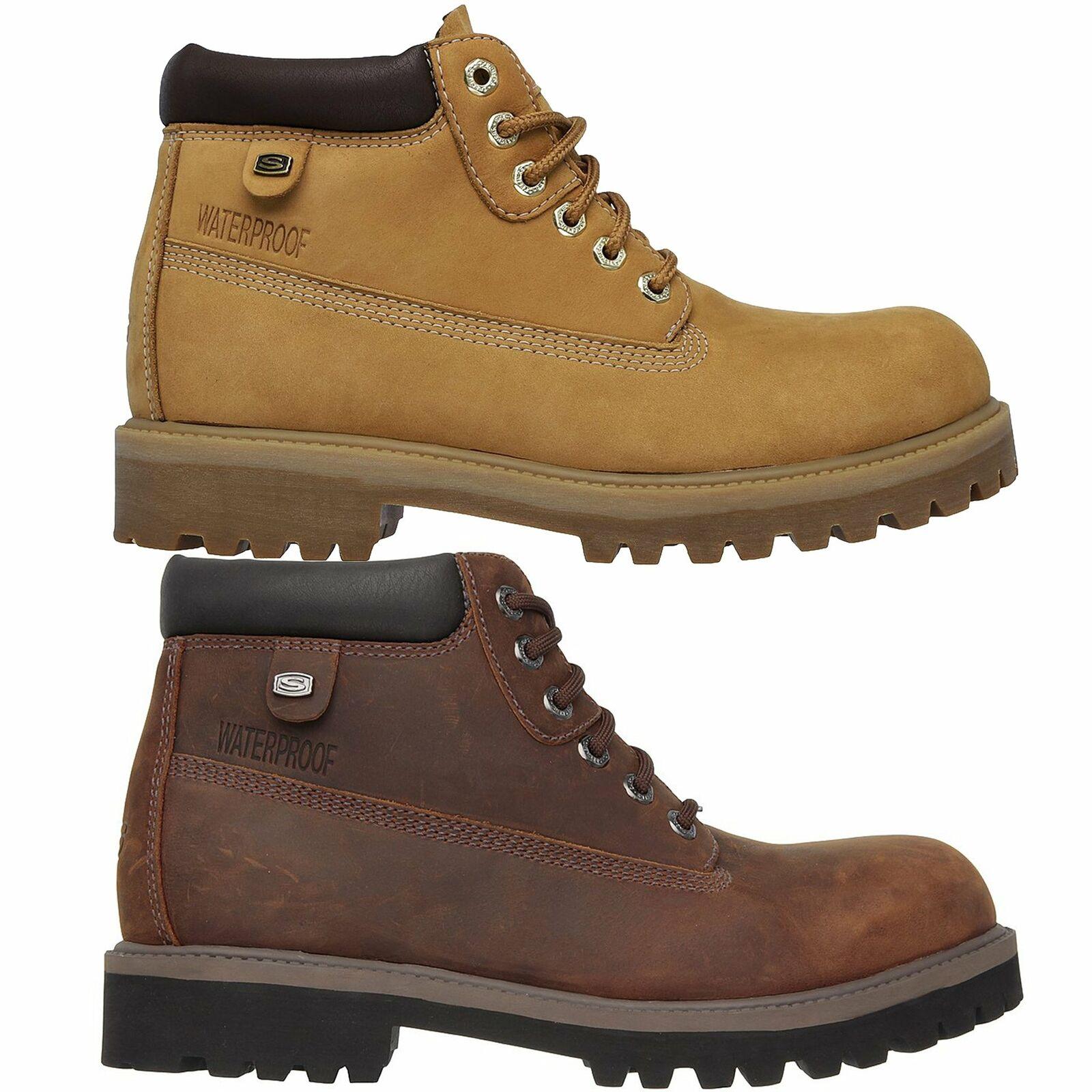 skechers men's waterproof verdict boots