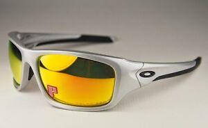 71e28e980f Image is loading NEW-Oakley-Polarized-Valve-Sunglasses-Silver-Fire-Iridium-