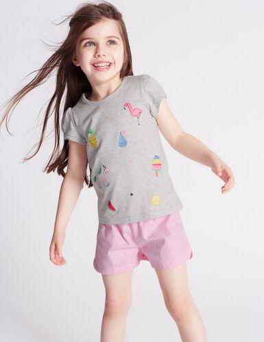 Pony Design BNWT M/&S GIRLS PYJAMAS SHORTIES PJS AGE 3-4 YEARS