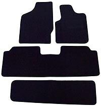 BLACK CARPET WITH BLACK EDGING FORD GALAXY 2006-2014 FULLY TAILORED CAR MATS