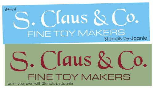 Lg Stencil Santa Claus Toy Maker Primitive Christmas Seasonal Holiday Art signs