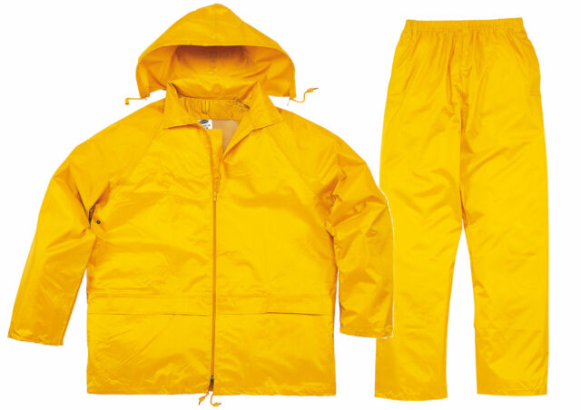 Delta Plus Panoply EN400 Yellow Waterproof Rainsuit Trouser Jacket Coat Clothing