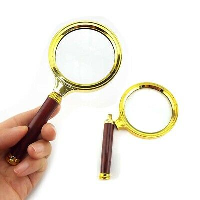 60 70 80mm Handheld 10x Magnifier Magnifying Glass Jewelry Loupe Reading Tools Ebay