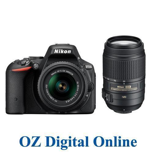 NEW Nikon D5500 18-55 + 55-300 VR Kits 32GB 24.2 MP Full HD DSLR Camera 1 YrWty