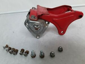 VINTAGE-HONDA-90-CM91-CUB-REAR-FENDER-SEAT-BRACKET-amp-CHROME-SHOCK-STUD-COVERS