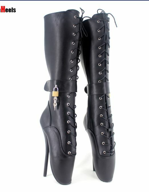 servizio premuroso donna donna donna club mid-calf stivali lace up stilettos with lock dance unisex ballet z0104  acquista online oggi