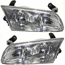 Headlight Set For 2000 2001 Toyota Camry Driver And Penger Side W Bulb