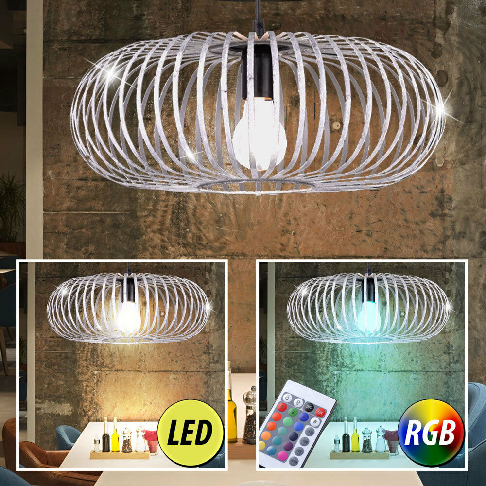LED ceiling light dimmable metal cage kitchen hanging lamp RGB REMOTE CONTROL