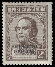 """ARGENTINA O38 (Mi D32) - Justo Jose de Urquiza """"Servico Oficial"""" (pa69084)"""