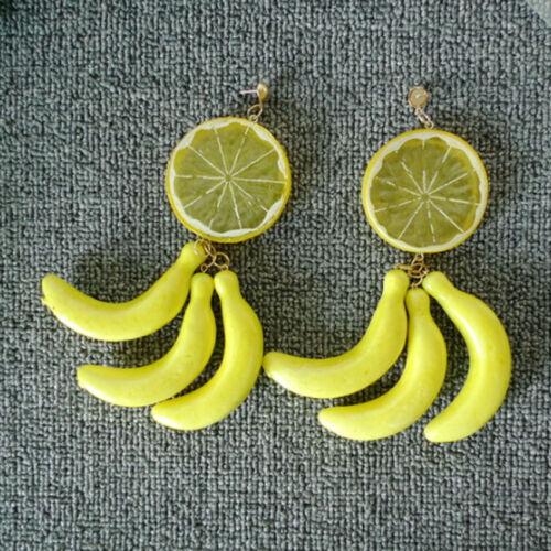 exaggerative Boucles d/'oreilles 1 Paire lemon slice et Banane Boucles d/'oreilles Summer Sensation Boucles d/'oreilles