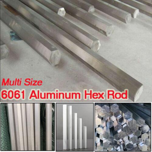 6061 Aluminum Hex Rod Solid Al Alloy Bar Metalworking Supplies Long 100-500mm