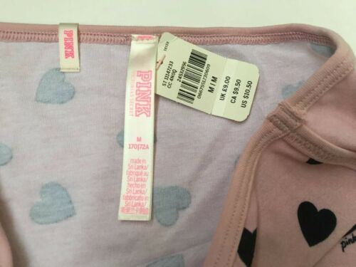 Large Victorias Secret PINK Boyshort Pink Hearts Prints Panty Cotton Shortie L