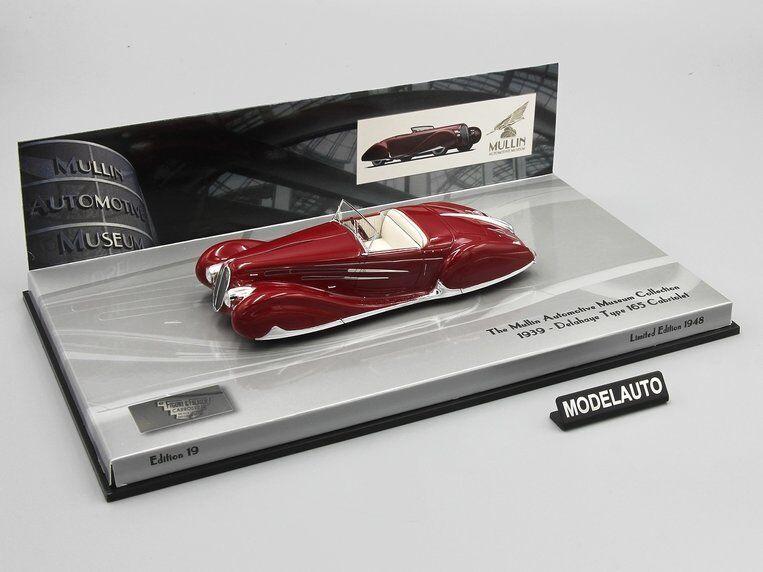 Minichamps 1 43 Delahaye Type 165 Cabriolet 1939 rosso L.E. 1948 PCS.