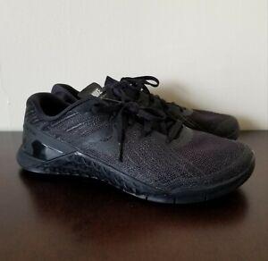 2e120a9eded89 Details about Nike Metcon 3 Triple Black Men's Cross Training Shoes Size 9  852928-002