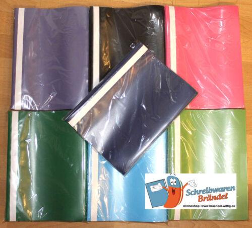PP mit Sichthülle 25 Stück Schulhefter Schnellhefter Kunststoff Plastik