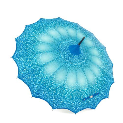 Soake boutique à motifs Pagode avec Festonné Edge Bleu Sarcelle