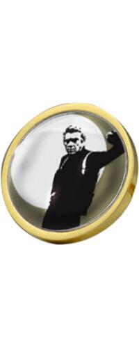Steve Mcqueen Bullet Gold Plated 28mm Pin Badge