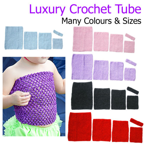Crochet Tube Top Bandeau Waistband Girls Stretch Childrens Toddlers Clothing UK