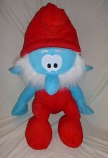 "2016 Rare Giant 39.5"" Papa Smurf Plush Stuffed Toy Animal by Kellytoy NWT NEW"