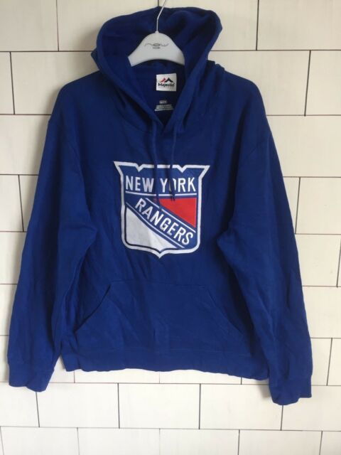 971a07bee VINTAGE RETRO USA PRO SPORTS MAJESTIC NEW YORK RANGERS SWEATSHIRT HOODIE  31